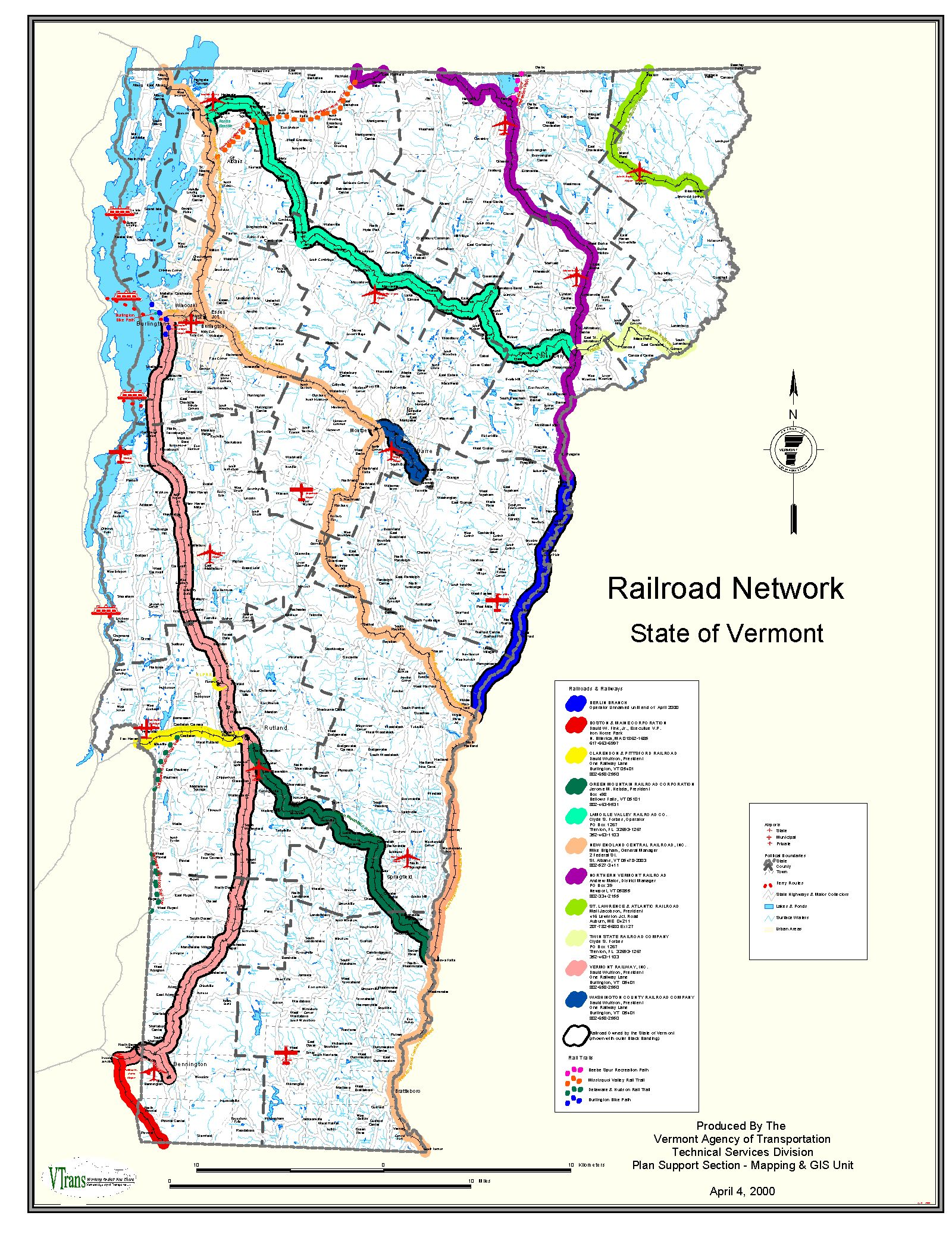VTrans Online Map Center - Map vermont
